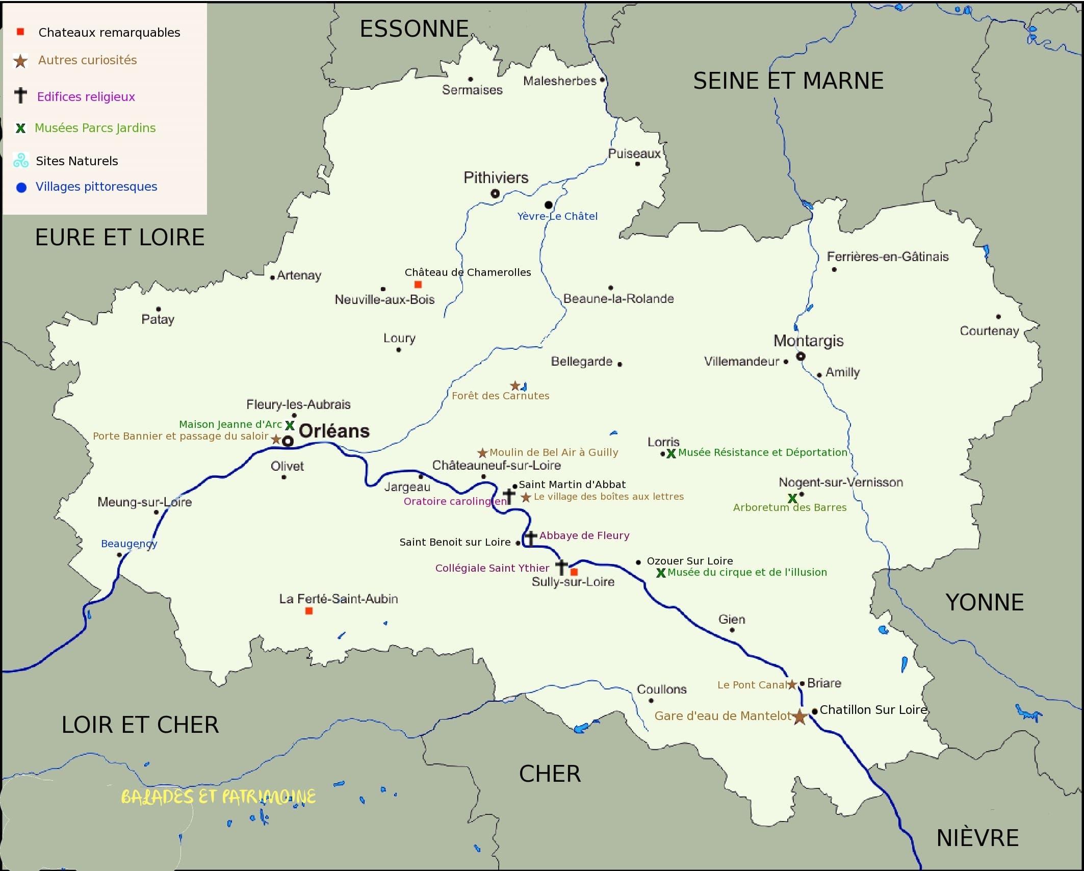 tourisme Loiret-balades et patrimoine