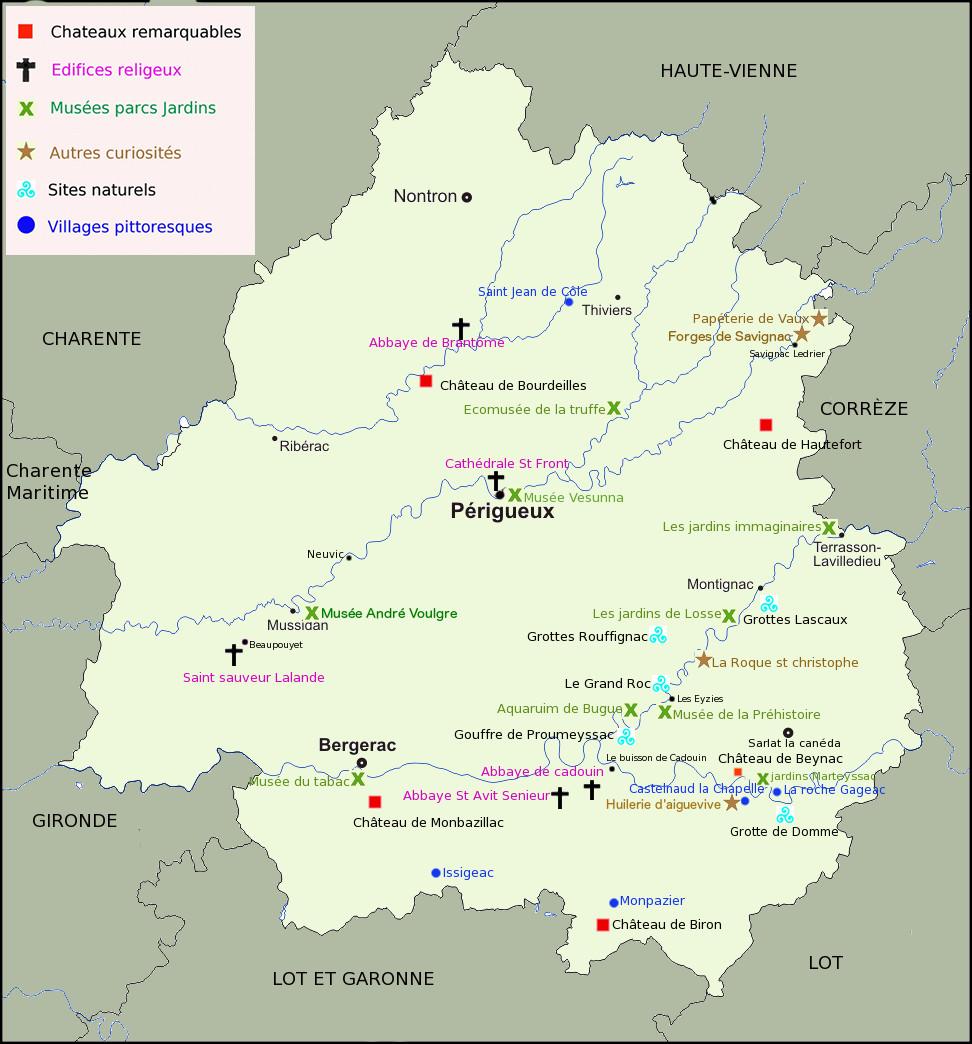 Carte toursime Dordogne-Balade-et-patrimoine