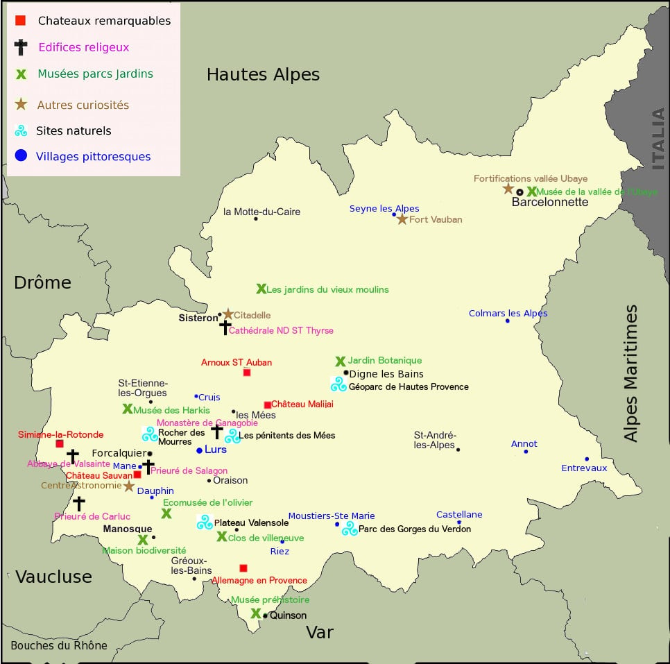 Tourisme Alpes-Hautes-Provences