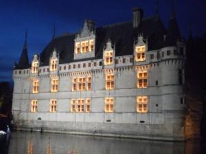 ilumination chateau Azay le Rideau