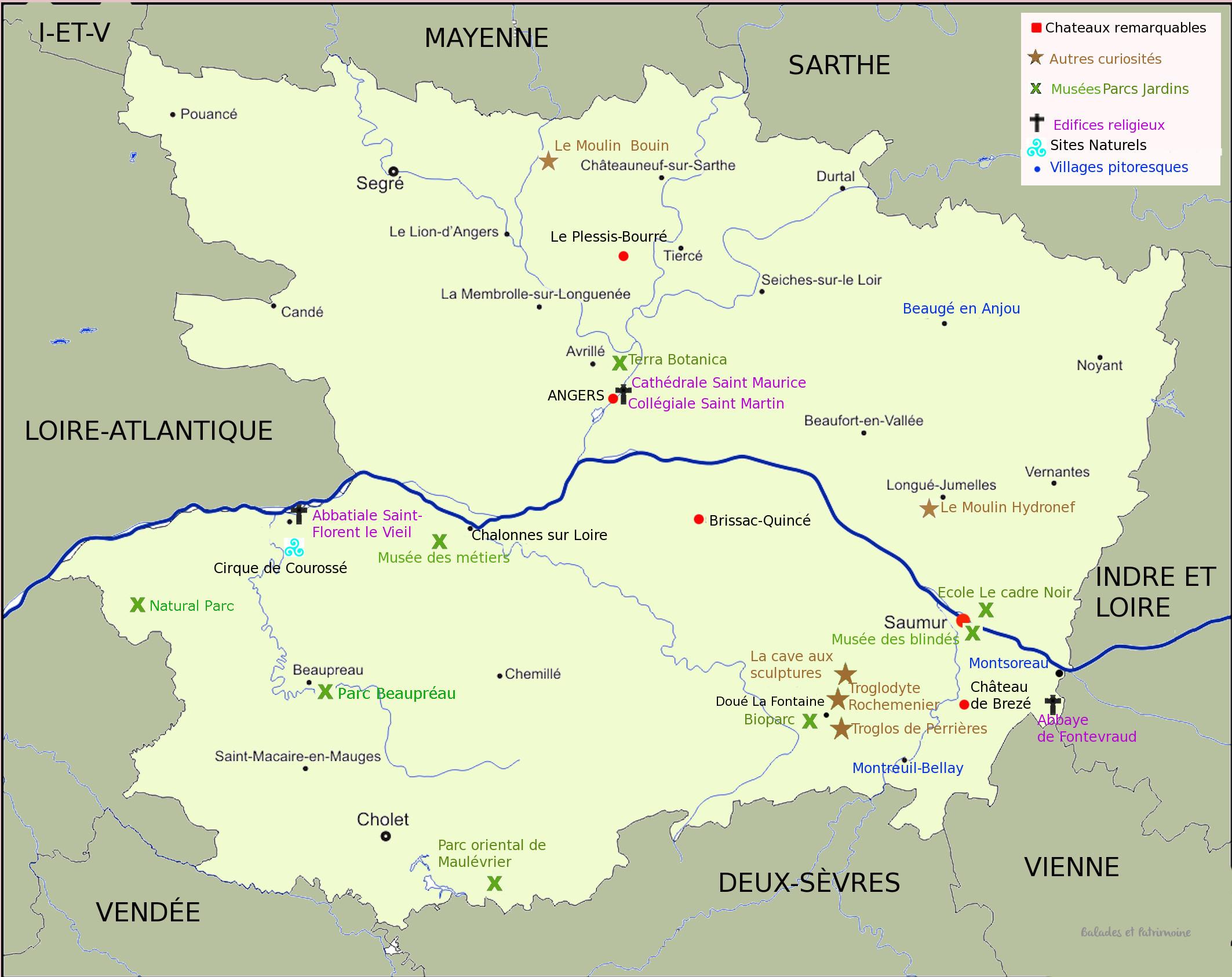 tourisme autour Angers