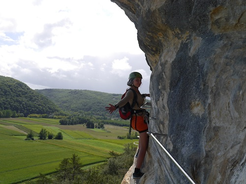 via ferrata Dordogne, Marqueyssac