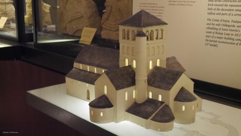 Maquette collegiale Saint Martin d'Angers