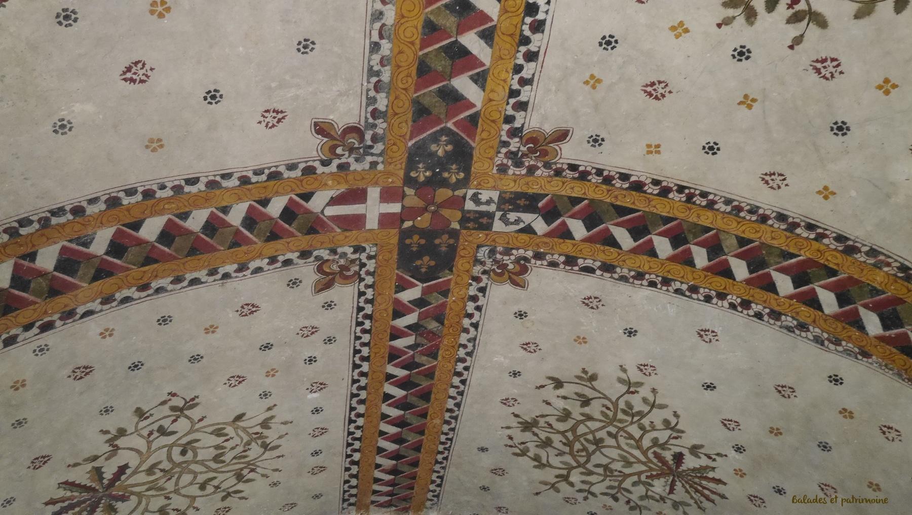 Fresque plafond chateau Larroque toirac