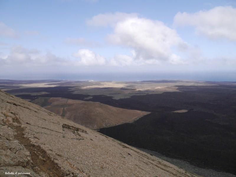Panorama sommet volcan caldera blanca