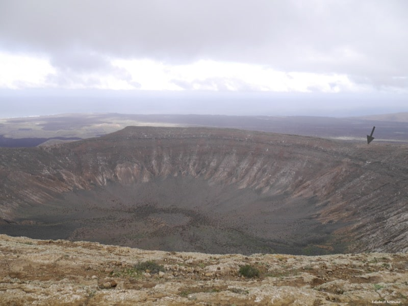 Volcan caldera blanca-Lanzarote