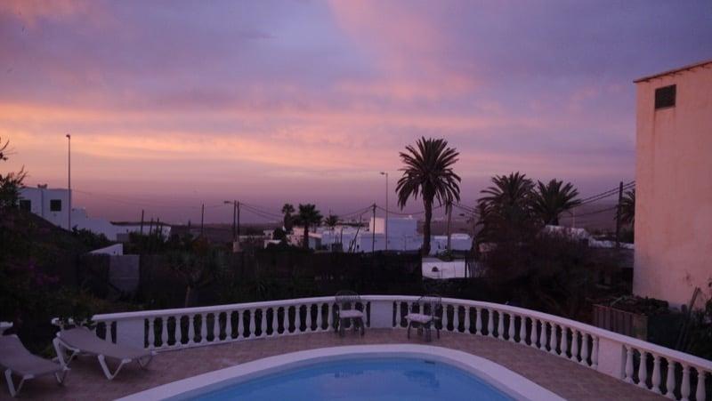 soleil levant Lanzarote