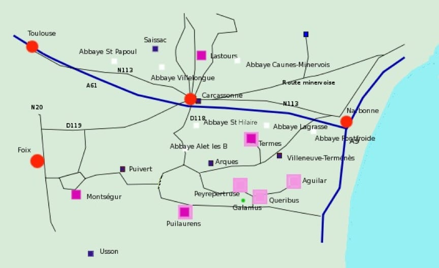 carte pays cathare