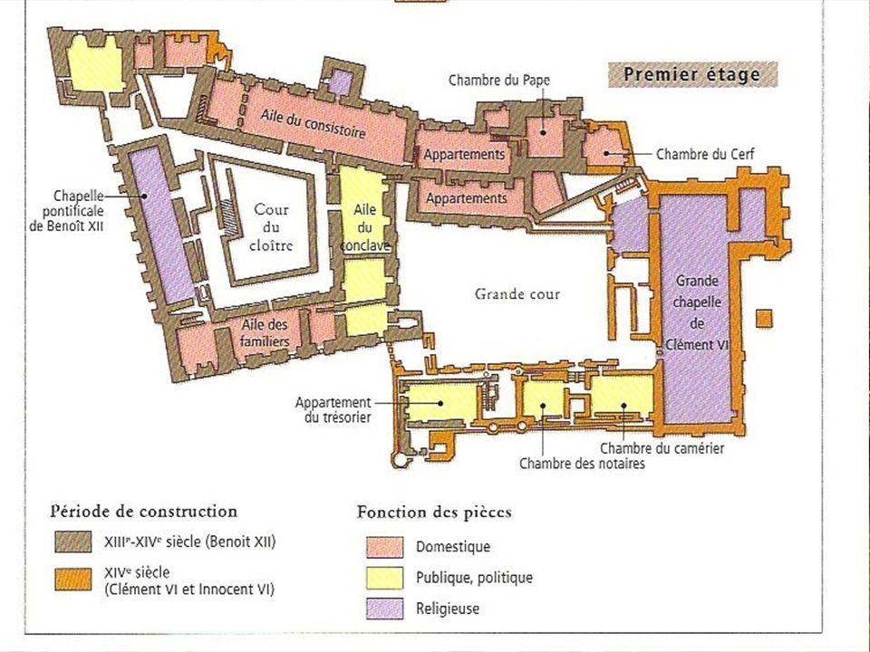Plan appartements pontificaux